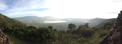 Vue de notre terrasse sur le cratère